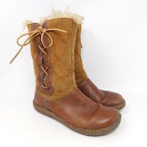 Born Leather Suede Shearling Winter Boots 8